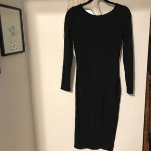 Anthropologie Charli long sleeved black dress
